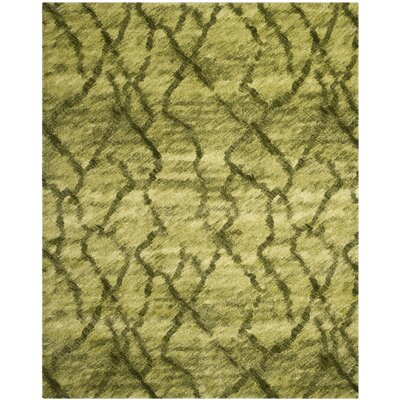 Light Grey / Black Area Rug Rug Size: 4 x 6, Color: Green/Dark Colorway