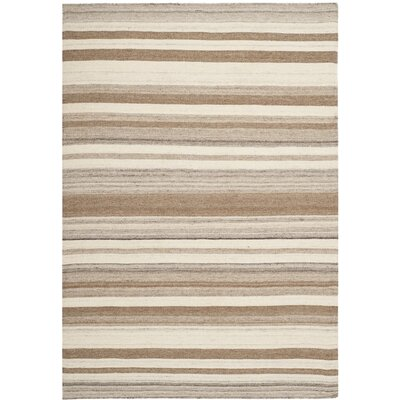 Dhurries Natural/Camel Area Rug Rug Size: 4 x 6