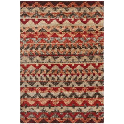Tahoe Brown / Terracotta Geometric Rug Rug Size: Rectangle 51 x 76