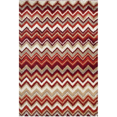 Tahoe Beige / Terracotta Geometric Rug Rug Size: Rectangle 51 x 76