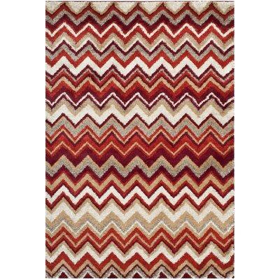 Tahoe Beige / Terracotta Geometric Rug Rug Size: Rectangle 4 x 6