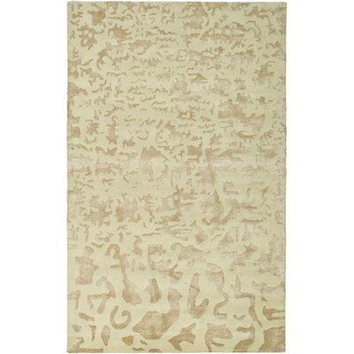 Soho Hand-Woven Wool Ivory Area Rug Rug Size: Rectangle 36 x 56