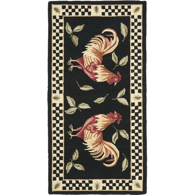 Vintage Poster Black / Ivory Rug Rug Size: Rectangle 26 x 5