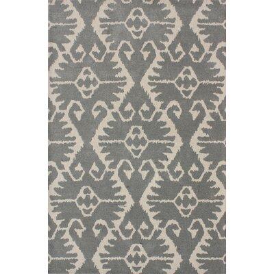 Kouerga Gray/Ivory Area Rug Rug Size: Rectangle 4 x 6