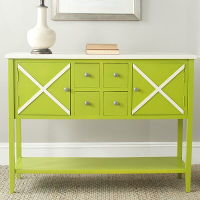 Adrienne Server Finish: Green / White
