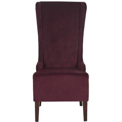 Oliva Cotton Side Chair Upholstery: Bordeaux