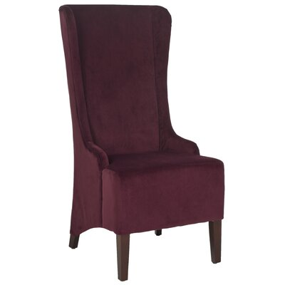 Oliva Cotton Parson Chair Upholstery: Bordeaux