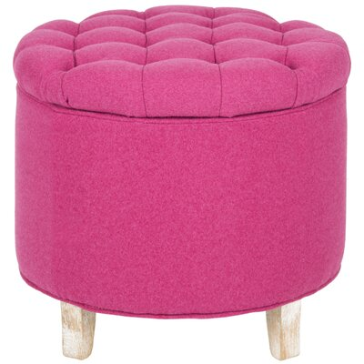 Amelia Upholstered Storage Ottoman Upholstery: Berry