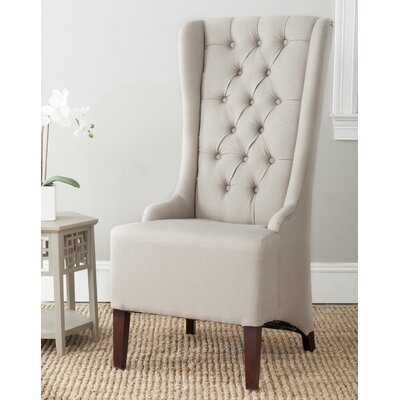 Becall Parson Chair in Taupe Linen