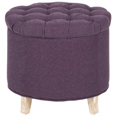 Amelia Upholstered Storage Ottoman Upholstery: Plum
