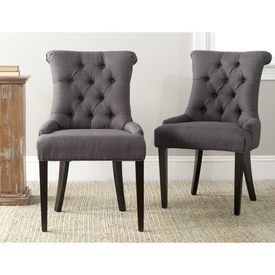 Allensby Upholstered Dining Chair Upholstery: Charcoal