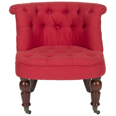 Carlin Slipper Chair Upholstery: Cranberry