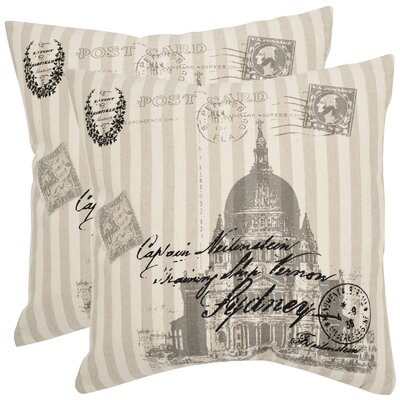Lucas Ramie Cotton Throw Pillow Size: 18