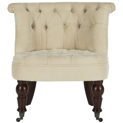 Carlin Slipper Chair Upholstery: Natural Cream