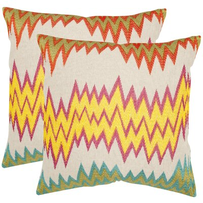 Ashley Newport Cotton Throw Pillow Size: 18 H x 18 W