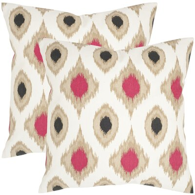 Miranda Cotton Throw Pillow Size: 18 H x 18 W