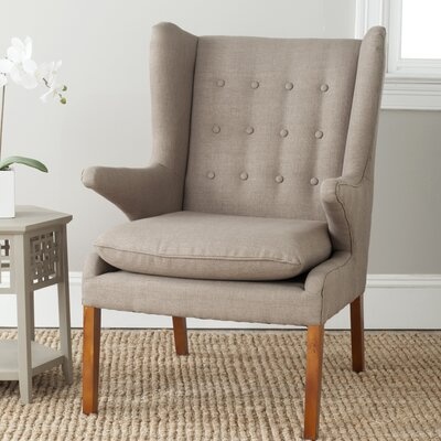 Gomer Wing back Chair Color: Olive