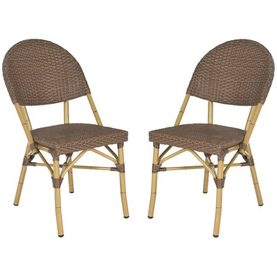 Safavieh Barrow Stacking Dining Chair (Set of 2) - Finish: Brown