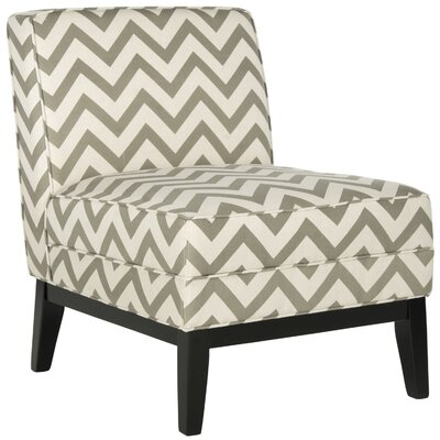 Armond Slipper Chair Color: Grey / White