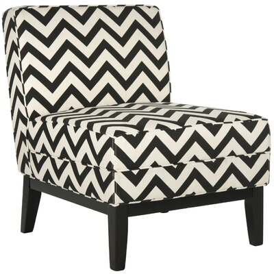 Armond Slipper Chair Upholstery: Black / White