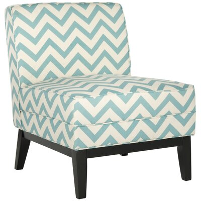 Armond Slipper Chair Upholstery: Blue / White