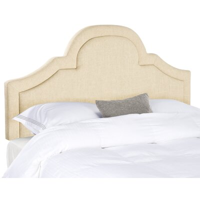 Kerstin Arched Upholstered Panel Headboard Upholstery: Hemp, Size: Queen