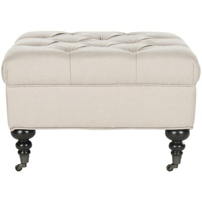 Angeline Ottoman Upholstery: Taupe