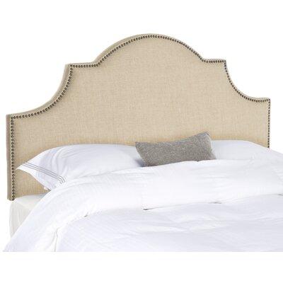 Safavieh Hallmar Arched Headboard Size: Queen, Color: Hemp, Nailhead Finish: Brass - MCR4680B