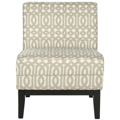 Armond Slipper Chair Upholstery: Grey/Cream