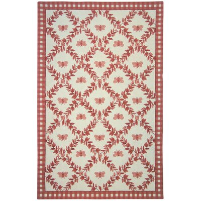 Kinchen Bumblebee Ivory & Rose Novelty Area Rug Rug Size: Rectangle 26 x 4