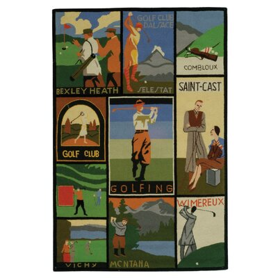 Vintage Posters Golf Collage Novelty Rug Rug Size: Rectangle 39 x 59