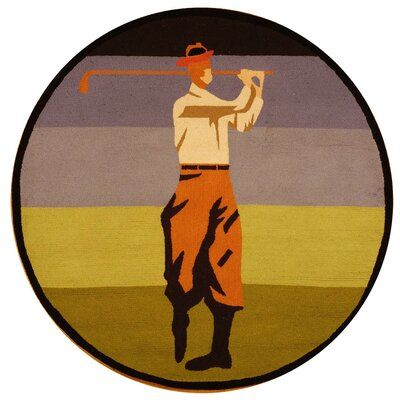 Vintage Posters Golf Collage Novelty Rug Rug Size: Round 4