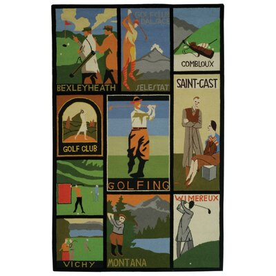 Vintage Posters Golf Collage Novelty Rug Rug Size: 53 x 83