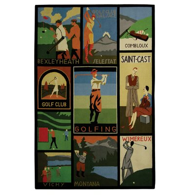 Vintage Posters Golf Collage Novelty Rug Rug Size: Rectangle 6 x 9