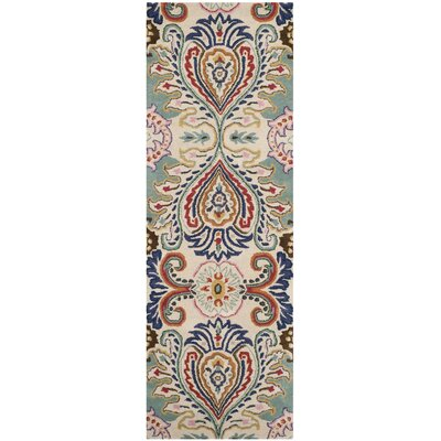 Rudra Blue Area Rug Rug Size: Runner 23 x 11