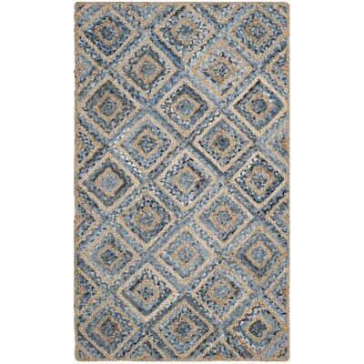 Gilchrist Traditional Hand-Woven Natural/Blue Area Rug Rug Size: 3 x 5