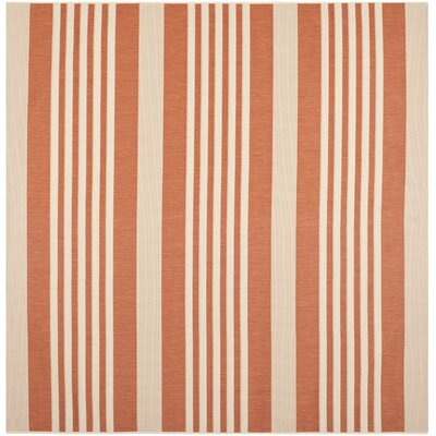 Sophina Orange Indore/Outdoor Area Rug Rug Size: Square 710