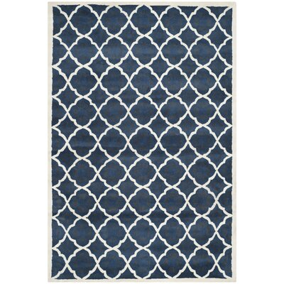 Chatham Blue/Ivory Moroccan Area Rug Rug Size: 4' x 6'