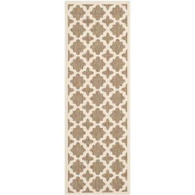 Clarksburg Brown/Bone Indoor/Outdoor Area Rug Rug Size: Rectangle 27 x 5