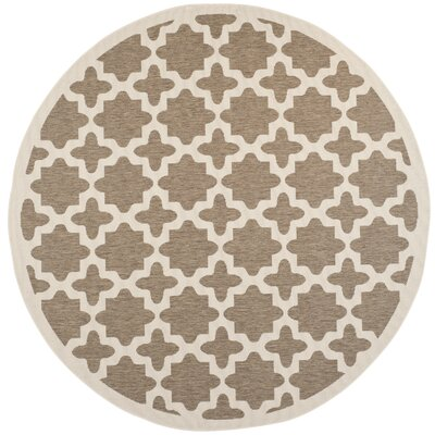 Clarksburg Brown/Bone Indoor/Outdoor Area Rug Rug Size: Round 710