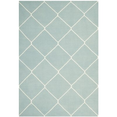 Dhurries Light Blue/Ivory Area Rug Rug Size: Rectangle 5 x 8