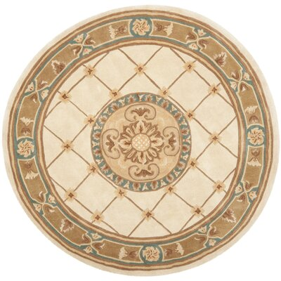 Naples Ivory/Caramel Area Rug Rug Size: Rectangle 4 x 6