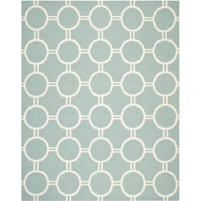 Dhurries Light Blue/Ivory Area Rug Rug Size: Rectangle 3 x 5