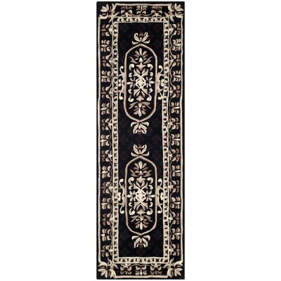 Naples Black Area Rug Rug Size: Runner 23 x 10