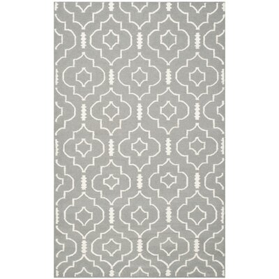 Crawford Hand-Woven Gray/Ivory Area Rug Rug Size: Rectangle 5 x 8