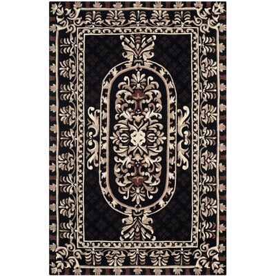 Naples Black Area Rug Rug Size: 4 x 6