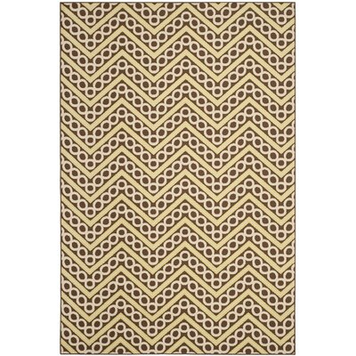 Hampton Chevron Outdoor Area Rug Rug Size: 67 x 96