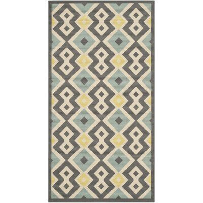 Hampton Geometric Indoor/Outdoor Area Rug Rug Size: Rectangle 27 x 5