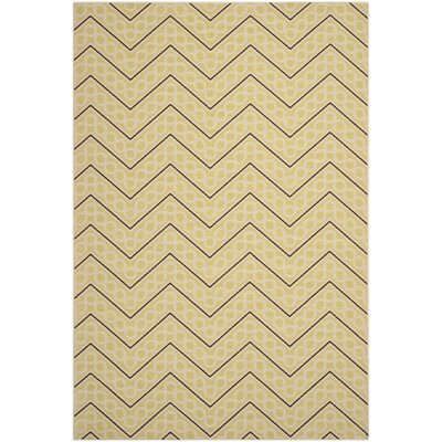 Hampton Beige Chevron Outdoor Area Rug Rug Size: 8 x 11