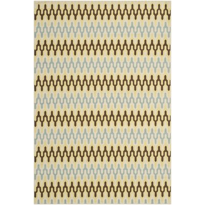 Hampton Ivory Outdoor Area Rug Rug Size: 67 x 96